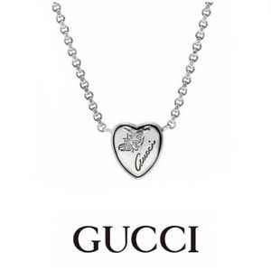 """New Authentic Gucci Flora Heart Bee Necklace 16"""""""